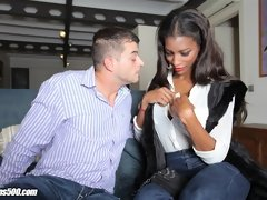 "Watch the horny Natassia Dreams show our main man Roberto a great time off his ""business"" trip."